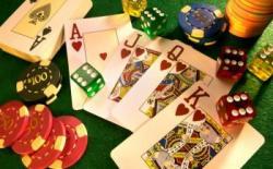 illustration jeux de casino dés cartes jetons